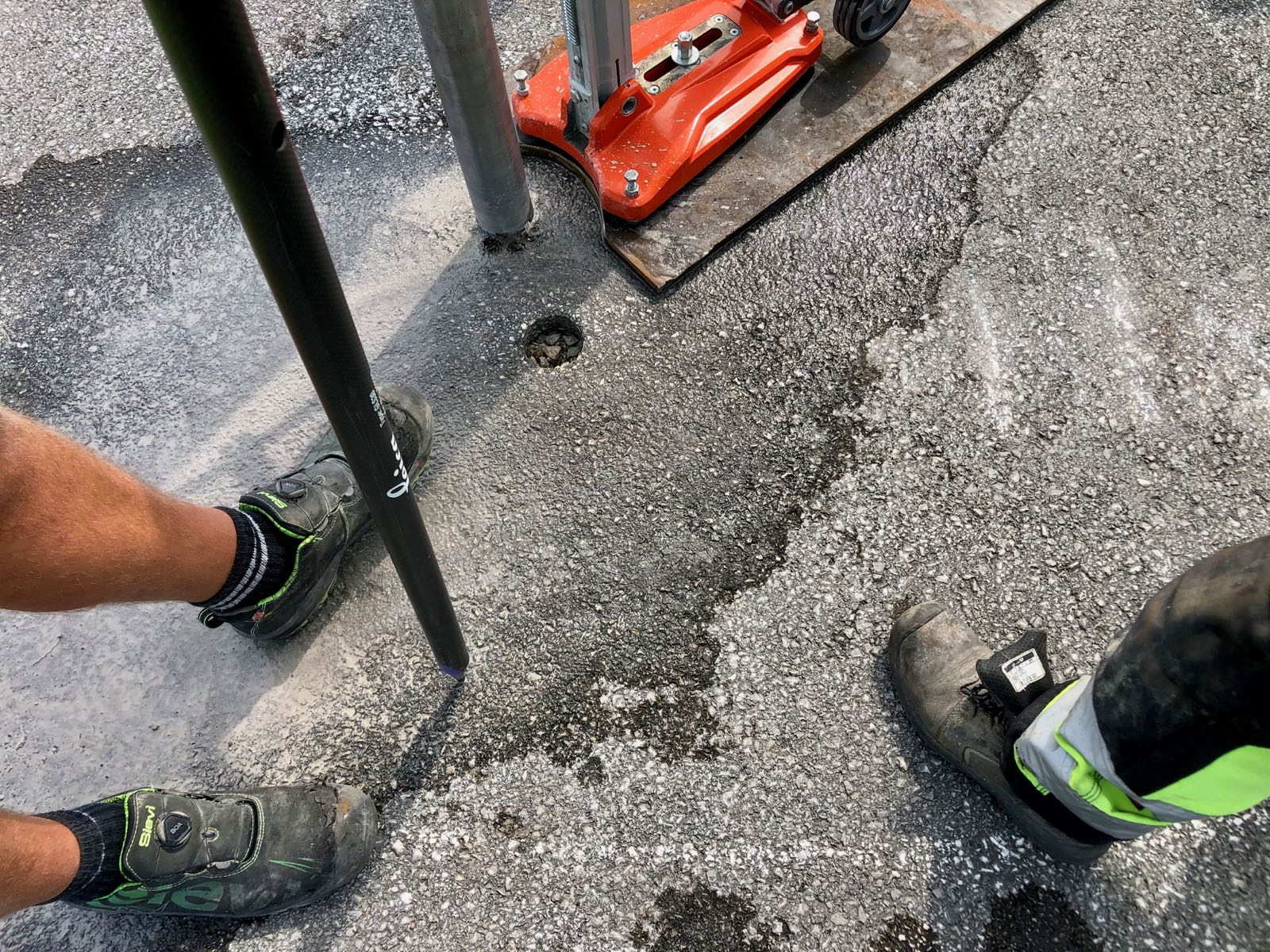 Provtagning asfalt 3